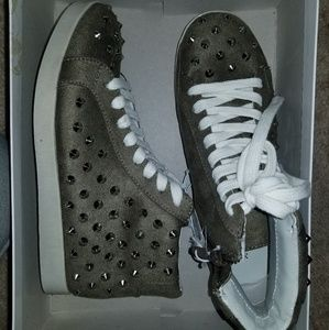Spiked high-top sneakers